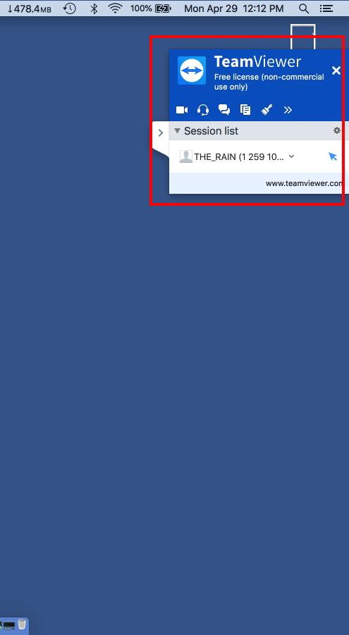 TeamViewer Grant Access Mac Step 1 teamviewer tab expanded