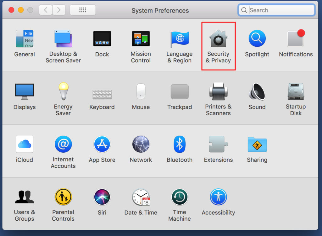TeamViewer Grant Access Mac Step 4 Open Security & Privacy