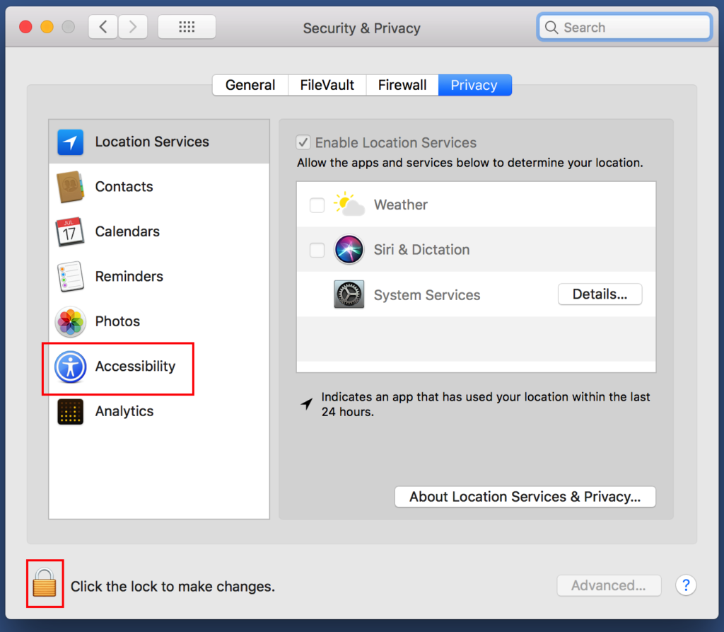 TeamViewer Grant Access Mac Step 5 unlock settings and click Accessibility