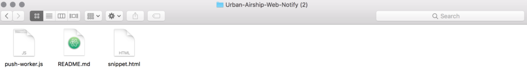 Step 4 of Getting Push Notifications to work using Airship. Install Code. Downloaded Files.
