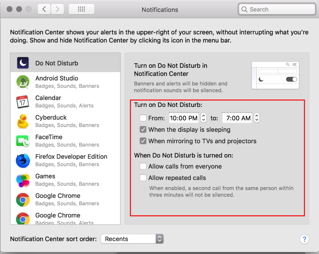 Step 6 of Getting Push Notifications to work using Airship. Notification Settings. Mac OS Notifications Settings. Screen 2.